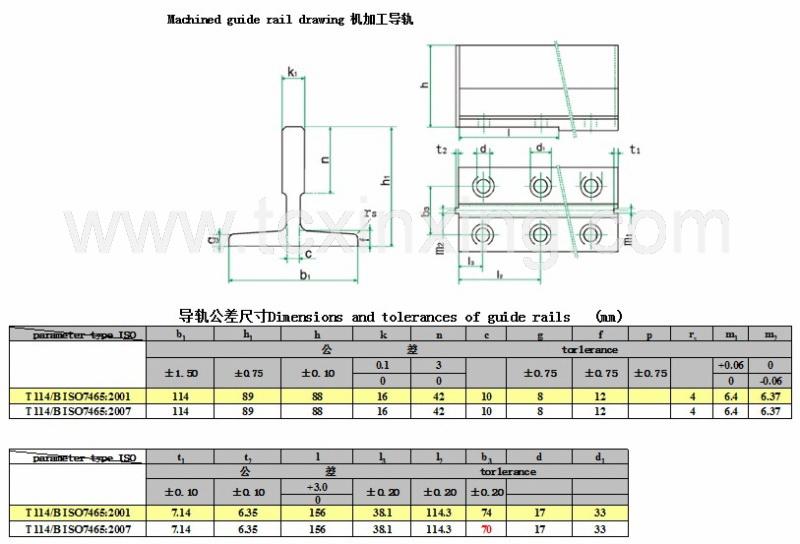 Elevator Guide Rail Factory Xinxing Elevator Guide Rail